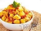 Рецепта Ароматни картофки с мак